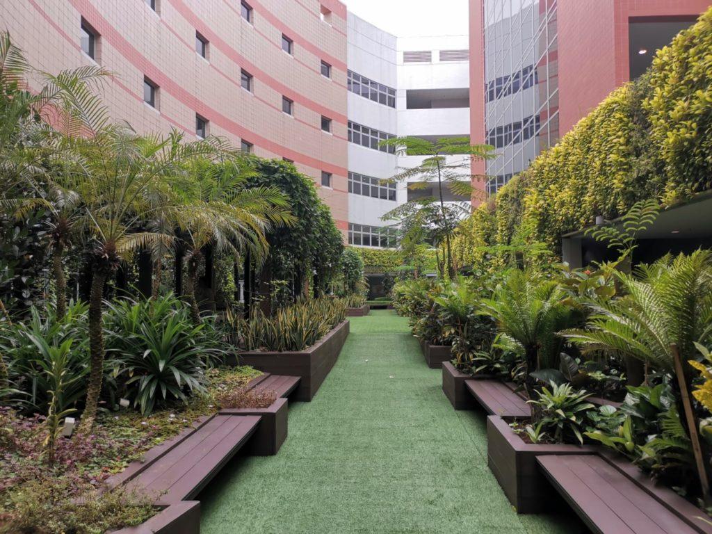 office building outdoor garden